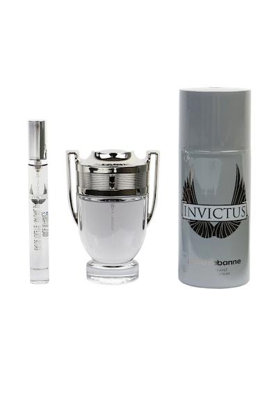 Paco Rabanne Set  Invictus, Barbati: Apa de Toaleta, 50 ml + Deodorant Spray, 150 ml + Apa de Toaleta, 10 ml Barbati