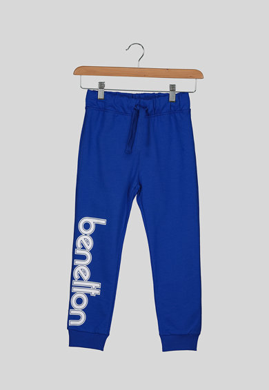 United Colors of Benetton Pantaloni sport cu imprimeu logo Baieti