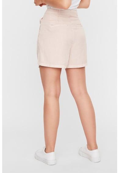 Vero Moda Lyocell rövidnadrág hajtásokkal női