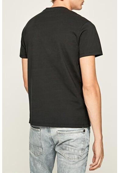 Pepe Jeans London Tricou regular fit cu imprimeu logo Burry Barbati