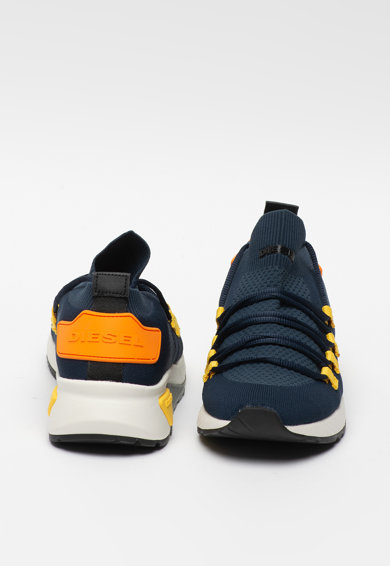 Diesel Pantofi sport cu sireturi si constructie tip soseta KB Athl Barbati