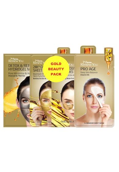 7th Heaven Masca  pentru hidratare, Gold Beauty Pack, Gold Femei