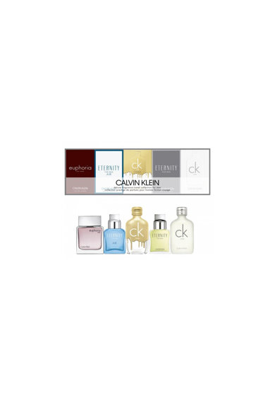 CALVIN KLEIN Set  Miniatures Collection, Barbati: Apa de Toaleta CK One, 10 ml + Apa de Toaleta CK One Gold, 10 ml + Apa de Toaleta Eternity Men, 10 ml + Apa de Toaleta Eternity Air, 10 ml + Apa de Toaleta Euphoria Men, 10 ml Barbati