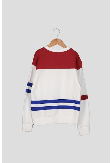 Pepe Jeans London Bluza sport cu model colorblock si imprimeu logo Baieti