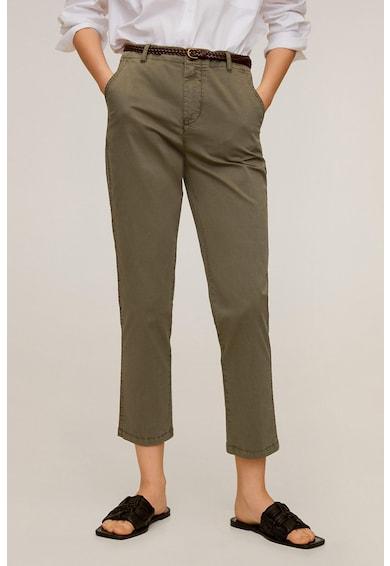 Mango Chino nadrág övvel női