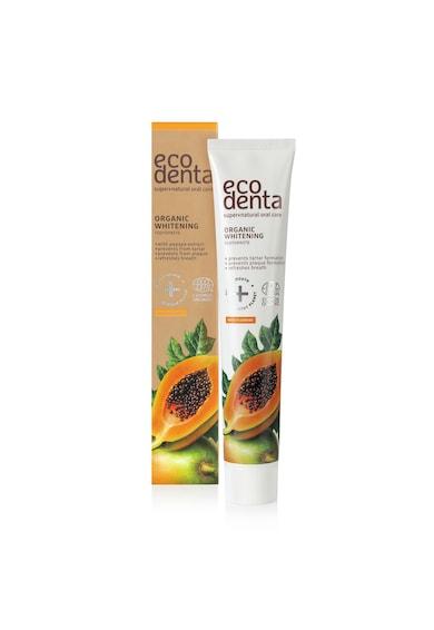 Ecodenta Pasta de dinti pentru albire  Cosmos Organic cu extract de papaya, 75 ml Femei