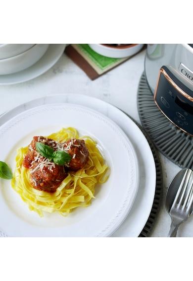 Crock-Pot Slow cooker   Digital Hinged Lid, 3.5L, 210 W, Functie Pastrare la cald, Vas ceramica detasabil, Argintiu Femei