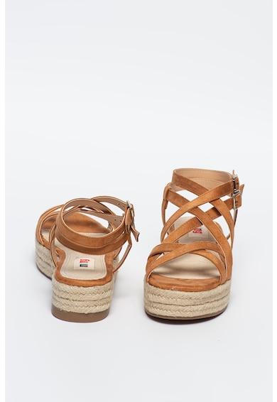 MTNG Sandale flatform tip espadrile cu barete incrucisate Tessyna Femei