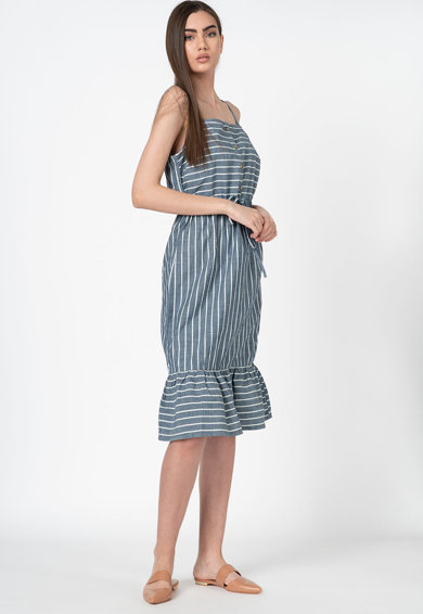 Vero Moda Rochie din bumbac organic, cu model in dungi Cary Femei