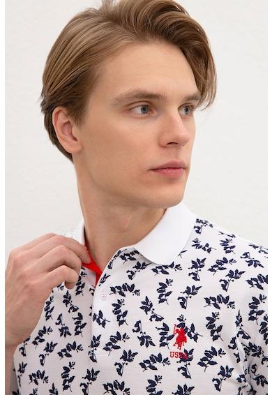 U.S. Polo Assn. Szűk fazonú galléros piképóló mintával férfi