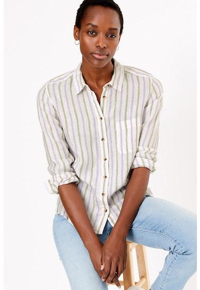 Marks & Spencer Camasa din in cu model in dungi Femei