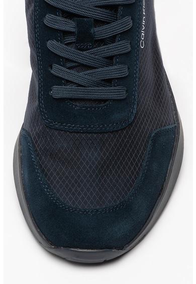 CALVIN KLEIN Pantofi sport de piele si plasa Delbert Barbati