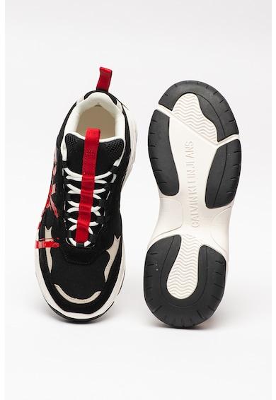 CALVIN KLEIN JEANS CALVIN KLEIN, Pantofi sport cu insertii de piele Mizar Barbati