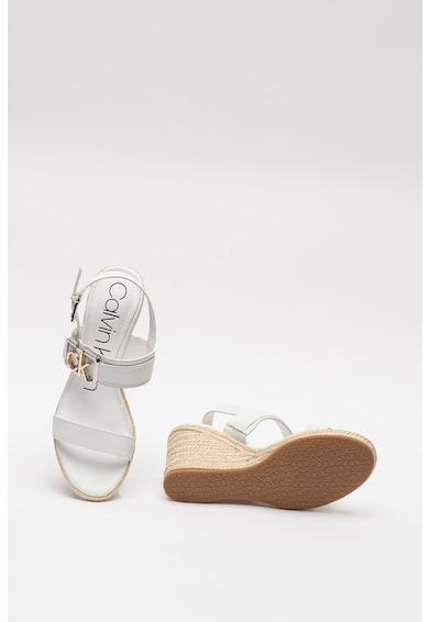 CALVIN KLEIN Sandale slingback de piele, cu logo metalic Belora Femei
