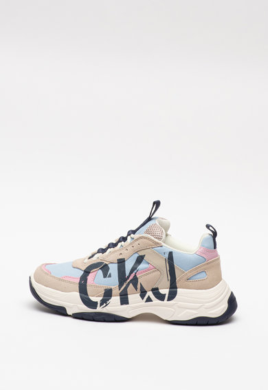 CALVIN KLEIN JEANS Pantofi sport de piele si piele ecologica, cu insertii de plasa Marleen Femei