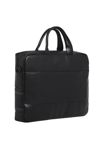 CALVIN KLEIN Geanta de laptop de piele ecologica, cu garnitura cu logo Barbati