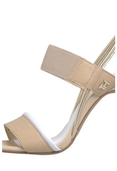 Tommy Hilfiger Sandale stiletto cu garnituri de piele si piele ecologica Femei