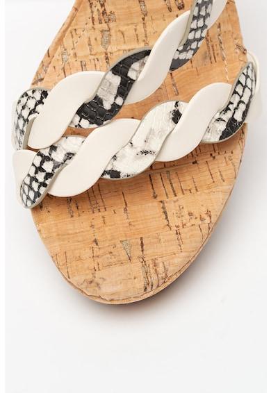 NINE WEST Sandale wedge de piele ecologica Brette Femei