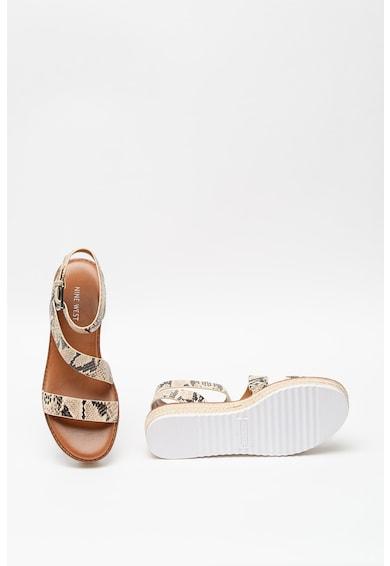 NINE WEST Sandale de piele ecologica cu model piele de reptila Chaya Femei