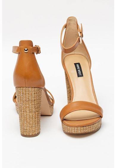 NINE WEST Sandale de piele cu toc masiv Dempsey Femei
