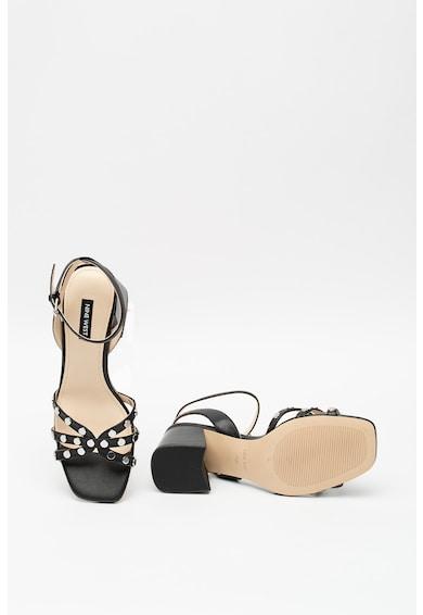 NINE WEST Кожени сандали Gale с масивен ток Жени
