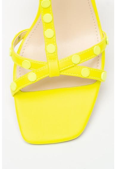 NINE WEST Sandale de piele ecologica cu toc masiv Glimmer Femei