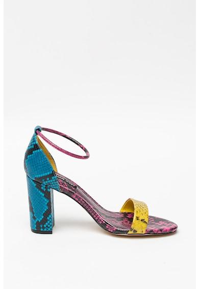 NINE WEST Кожени сандали Ola с висок ток и шагрен Жени