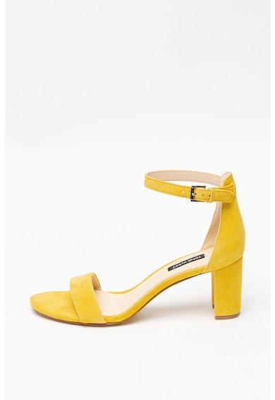 NINE WEST Sandale de piele intoarsa cu toc inalt Pruce Femei