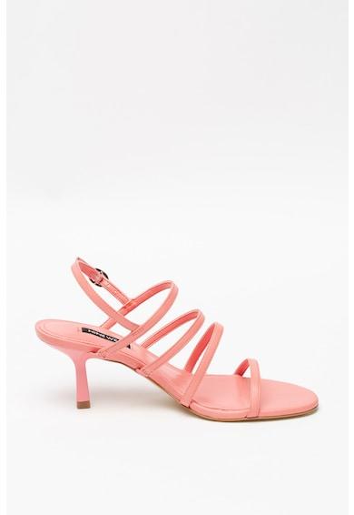 NINE WEST Кожени сандали Smooth с висок ток и каишки Жени