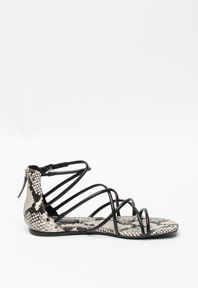 NINE WEST Sandale de piele ecologica cu talpa plata Whisper Femei