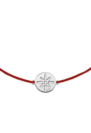 MALVENSKY Bratara cu snur si talisman placat cu aur de 14K Femei