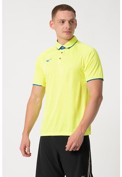 Mizuno Team Core galléros póló kontrasztos szegélyekkel férfi