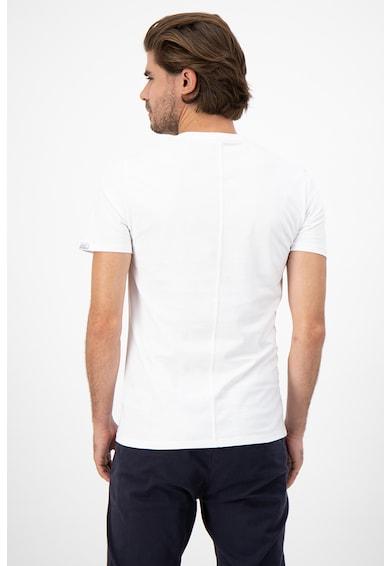 GUESS JEANS Памучна тениска с овално деколте Мъже