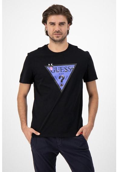 GUESS JEANS Памучна тениска с лого Мъже