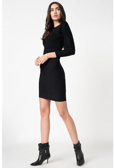 GUESS JEANS Szűkített fazonú kerek nyakú ruha női