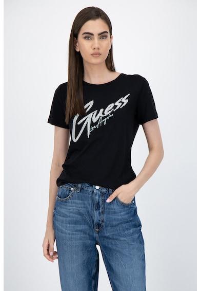 GUESS JEANS Tricou din amestec de modal cu logo supradimensionat Femei