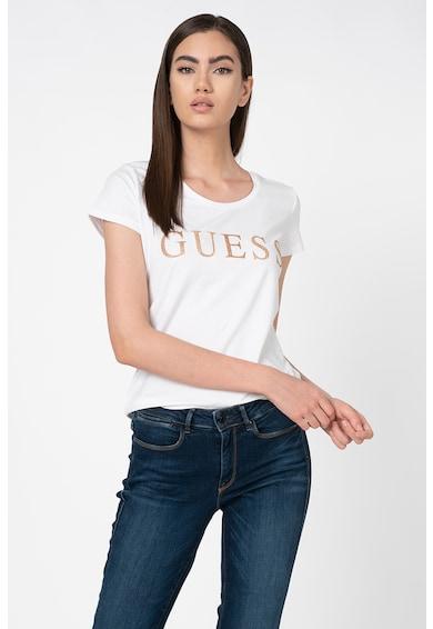 GUESS JEANS Tricou cu imprimeu logo stralucitor Femei