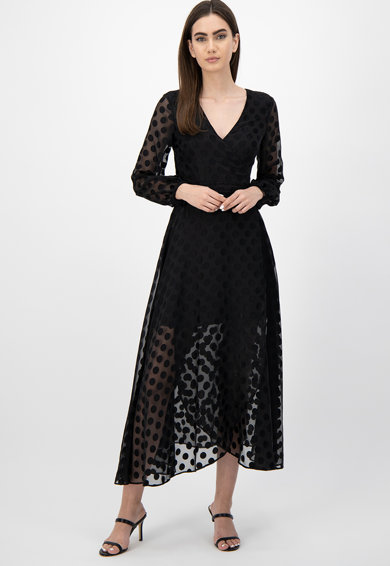 GUESS JEANS Разкроена рокля на точки Жени