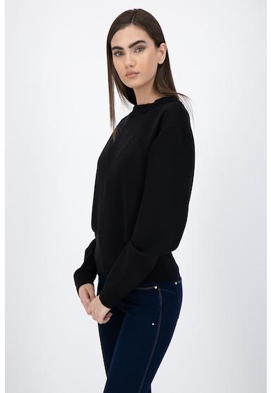 GUESS JEANS Bluza sport crop cu logo brodat Femei