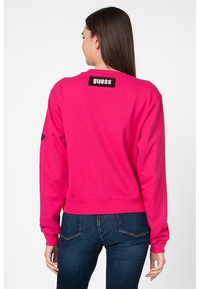 GUESS JEANS Bluza sport cu maneci cazute si aplicatii din paiete Femei