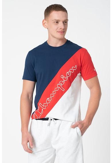 Champion Colorblock dizájnos póló kerek nyakrésszel férfi