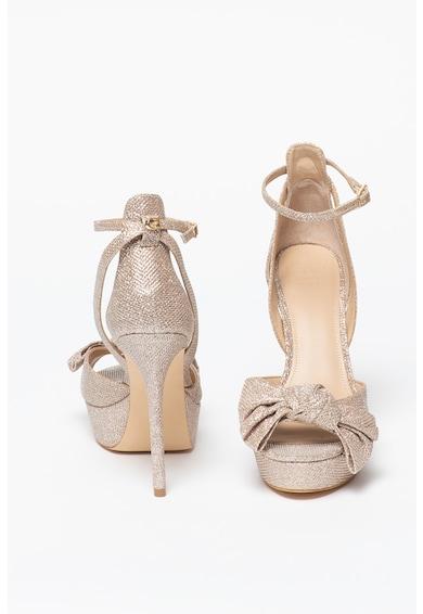 Guess Sandale cu toc stiletto si aspect stralucitor Femei