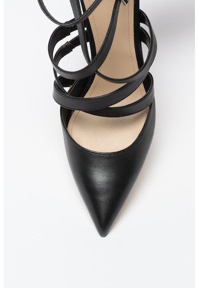 Guess Pantofi de piele cu varf ascutit si barete multiple Femei
