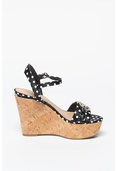 Guess Sandale din piele cu talpa wedge Gesina Femei