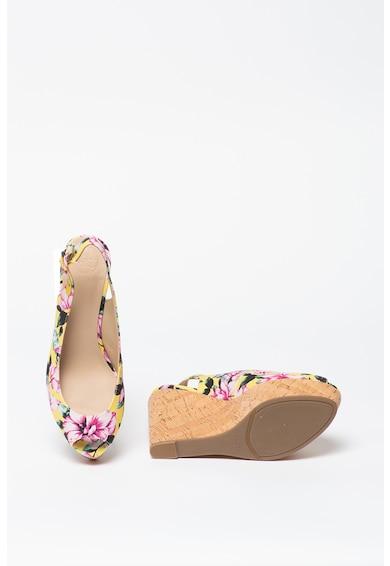 Guess Sandale wedge cu imprimeu floral Femei