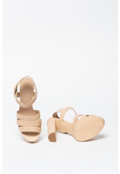 Guess Sandale din piele cu toc masiv Femei