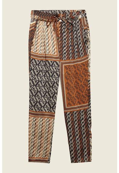 Motivi Pantaloni crop cu talie inalta Femei