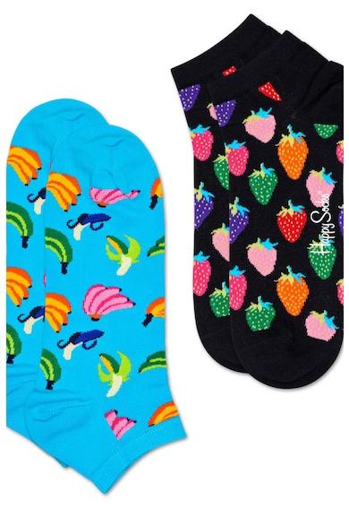 Happy Socks Set de sosete unisex cu imprimeu, 2 perechi Femei
