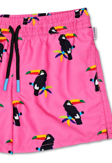 Happy Socks Pantaloni scurti de baie cu snur de ajustare in talie Barbati