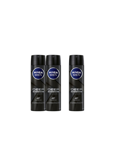 Nivea Men Deodorant spray  Deep, 3 x 150 ml Barbati